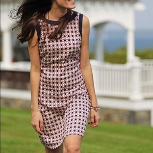 Brooks Brothers Geometric Print Cotton Shift Dress